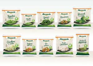Le verdure surgelate a marchio Almaverde Bio in packaging compostabile presentate ad Anuga