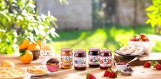 L'ampia gamma delle confetture Conserve della Nonna, brand del Gruppo Fini