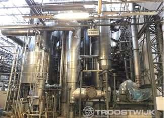 Wiegand Turbo concentratore-sistema evaporatore a film a 3 stadi. Uno dei lotti in vendita all'asta di Troostwijk il 26 novembre