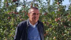 Il presidente del Consorzio MelaPiù di Ferrara, Gianmauro Bergamini