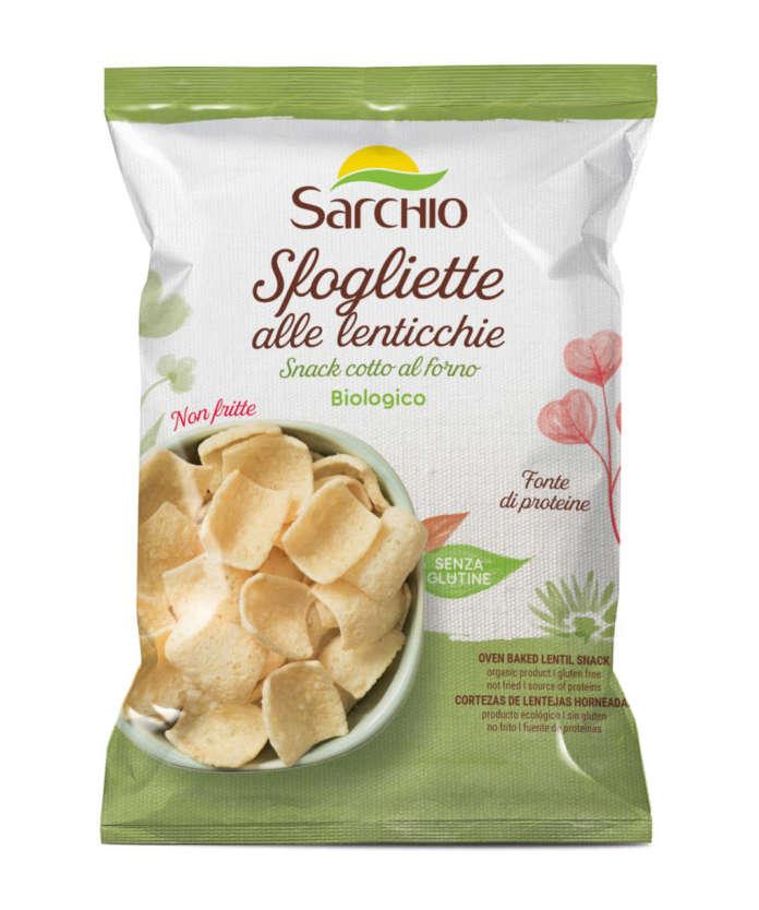 Le tre nuove referenze Sarchio della linea snack salati sono cotte al forno per un migliore profilo nutrizionale