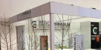 Uno stand di Pietro Chinaglia Vivai. L'azienda sarà presente per la prima volta a Fruit Attraction, la fiera ortofrutticola in programma a Madrid