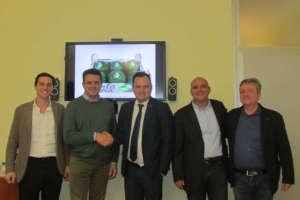 La sigla dell'accordo tra Canova e la società consortile Perla Nera per la commercializzazione del prodotto bio