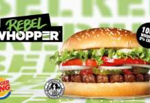 Rebel Whopper, il burger plantocentrico, è il frutto della partnership tra Burger King e The Vegetarian Butcher