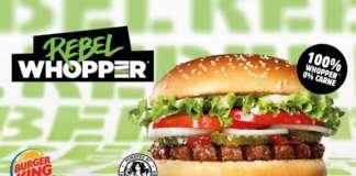 Rebel Whopper, il burger plantocentrico, è il frutto della partnership tra Burger King e The Vegetarian Butcher
