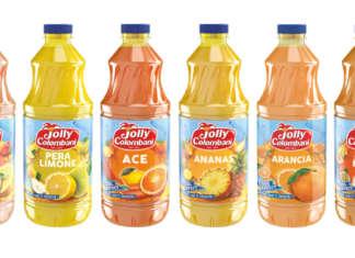 La nuova gamma di bevande alla frutta a marchio Jolly Colombani di Conserve Italia. E' composta da sei referenze