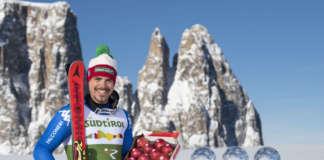 Lo sciatore alpino Peter Fill, ambasciatore della mela Crimson Snow