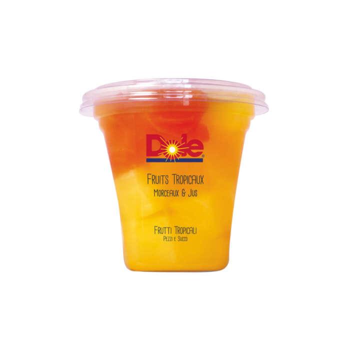 Il gusto Frutti Tropicali della coppetta di frutta Dole. Un prodotto ready to eat