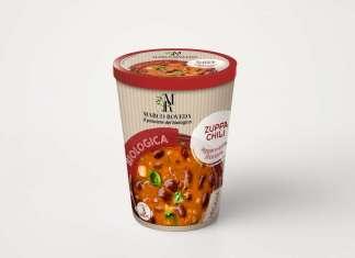 La Zuppa chili leggermente piccante, con fagioli rossi ed estratto di chili