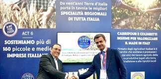 Gerard-Lavinay, presidente di Carrefour Italia ed Ettore-Prandini, presidente di Coldiretti a Marca
