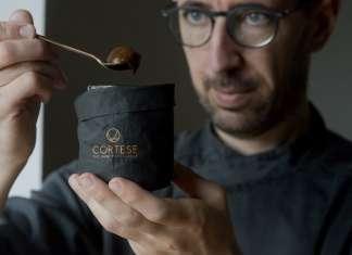 Il pastry chef Vito Cortese, classe '77, pugliese, specializzato in pasticceria raw vegan