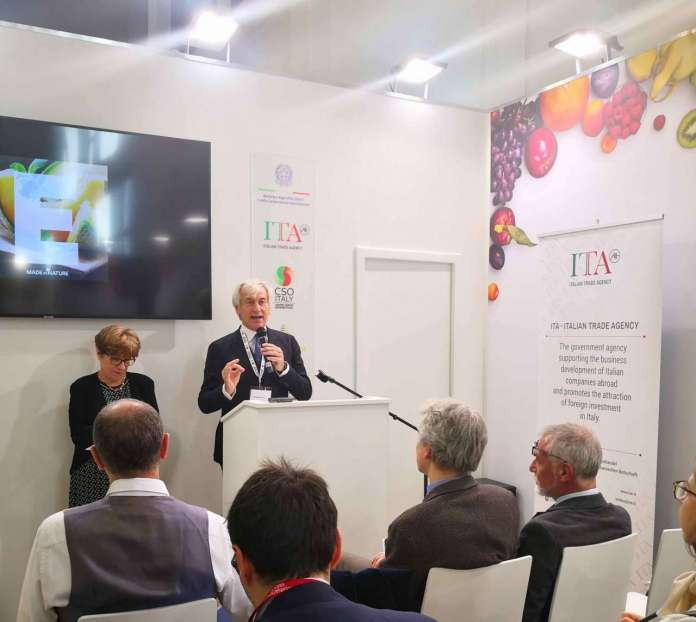 L'intervento sul progetto Made in Nature di Paolo Bruni, presidente di CSO Italy a Fruit Logistica