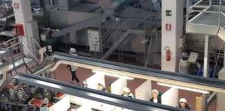I separè collocati per sicurezza sul posto di lavoro della Rivoira Giovanni &Figli