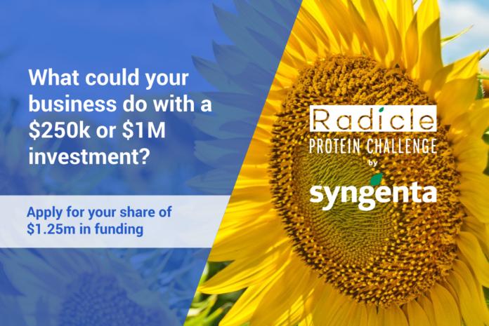 Le domande per partecipare a The Radicle Protein Challenge possono essere presentate fino al 29 maggio 2020