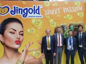 Il team Jingold: da sinistra verso destra, Patrizio Neri, presidente, Alessandro Fornari, direttore, Moreno Armuzzi, responsabile commerciale, Federico Milanese, responsabile marketing e sviluppo