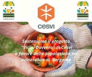La piattaforma guarda anche alla solidarietà grazie all'accordo con la Onlus Cesvi