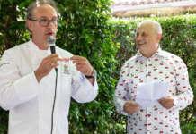 Sergio Fessia (a destra) con lo chef due Stelle Michelin Gian Piero Vivalda (a sinistra)