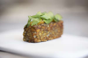 Tempeh di lenticchie, albicocche e anice, un piatto di Raffaele Lenzi