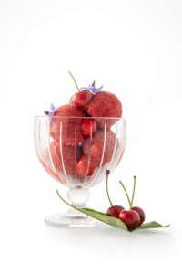 Il Gelato Reale dello chef stelalto Vivalda, sorbetto alla ciliegia di Pecetto (credits Davide Dutto)