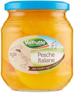 Pesche sciroppate Valfrutta filiera italiana