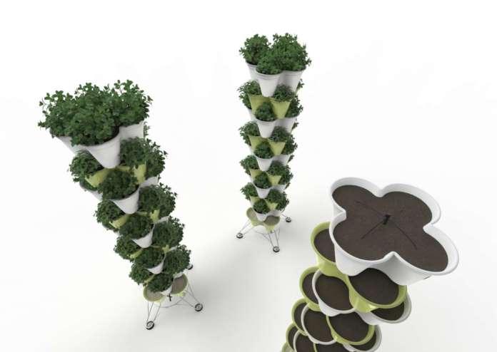 I sistemi modulari Poty per l'orto verticale domestico