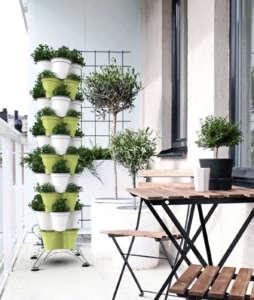 Poty si utilizza in diversi spazi domestici, oltre che su balconi e tetti