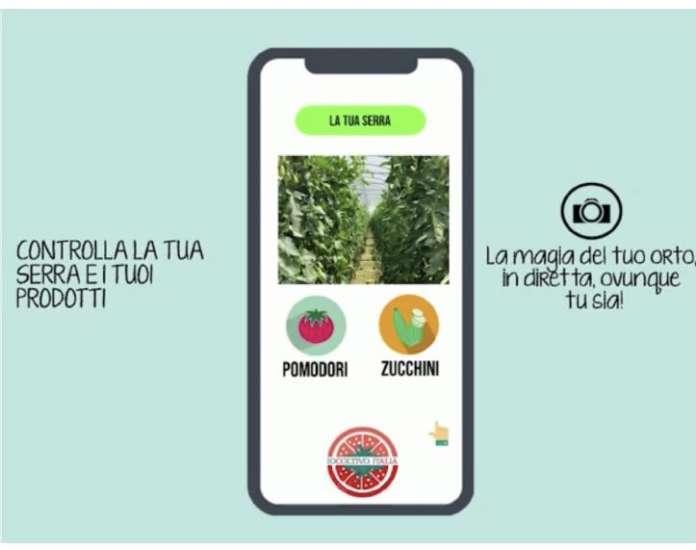 Il consumatore può vedere crescere il prodotto ortofrutticolo Io Coltivo italia tramite webcam e controllarlo con un'app