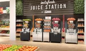Juice corner Zumex in un retail