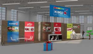 Il rendering dello stand virtuale di Kiku variety Management