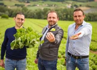 Nicola Ambruosi (a sx) con i fratelli, soci di Ambruosi e Viscardi
