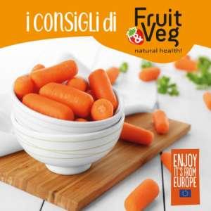 Baby carrots, uno dei prodotti raccontati dalle schede del progetto Fruit & Veg: Natural