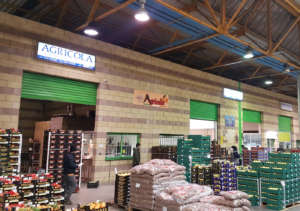 Lo stand Agricola Daniele Di Mauro al Mercato Ortofrutticolo di Cesena