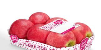 Mele Pink Lady in packaging esclusivo per la festa di San Valentino