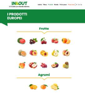 Sul sito In&Out le schede nutrizionali dei prodotti ortofrutticoli