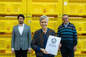 Silvia Salvi, amministratore di Salvi Vivai, ritira il premio