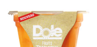 Il nuovo pack delle coppette di frutta Dole