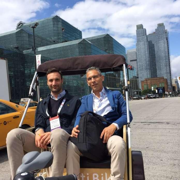 Daniele Campagnaro, titolare dell'azienda Agricola Lusia, e il manager Nicola Modica
