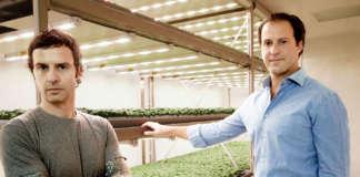 Luca Travaglini e Daniele Benatoff, co-founder di Planet Farms, specializzata in vertical farming