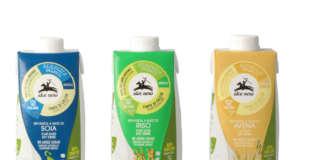 Il nuovo pack green delle bevande vegetali Alce Nero