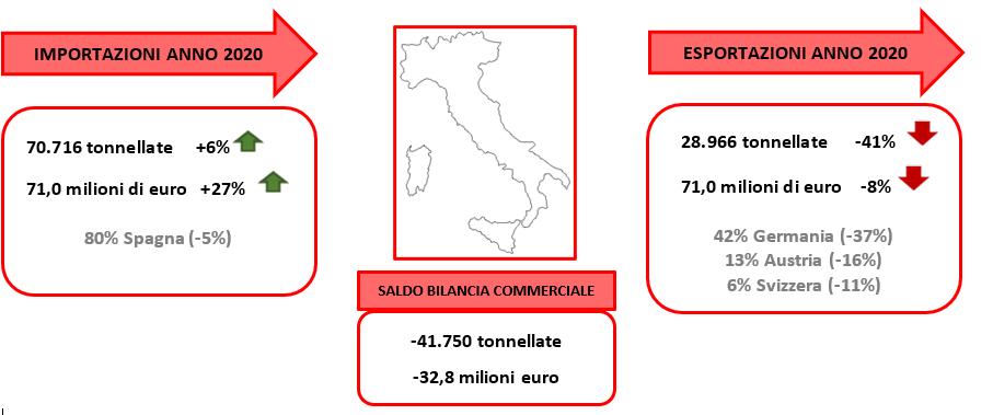 Fonte: elaborazione Bmti su dati Istat