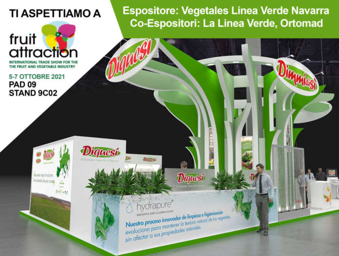 Lo stand di Ortomad a Fruit Attraction, a Madrid