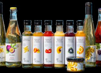 """I prodotti dell'azienda Bodegas Platé comprendono """"vini"""" e aceti di frutta"""